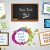 cornici per messaggi e immagini – frames for messages and images set