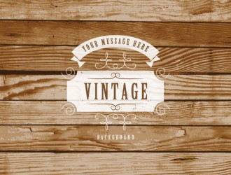 sfondo legno – vintage label on wooden background