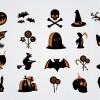 20 icone Halloween – Halloween scary symbols icon set