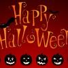 Halloween, 6 zucche, pipistrelli – Happy Halloween, pumpkins, bats