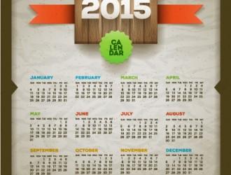 calendario 2015 – retro style calendar 2015