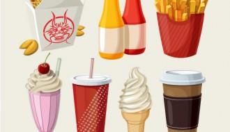 fast food, chocolate, ice cream – gelato, cioccolato, panino, patatine
