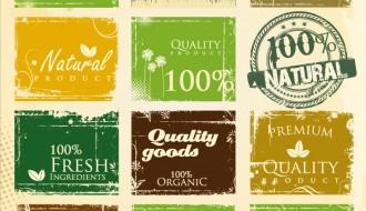 12 targhette – organic vintage labels