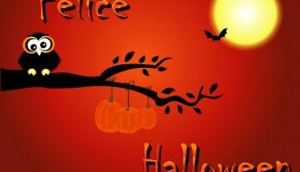 Felice Halloween gufo – Happy Halloween owl