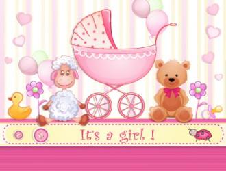 nascita bimba – girl baby cards