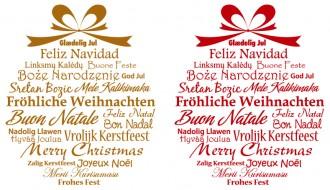 2 palline Buon Natale scritte – written Merry Christmas balls