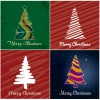 4 alberi di Natale – abstract Christmas trees