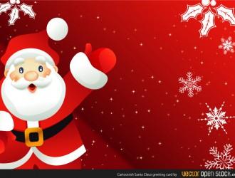 Babbo Natale – cartoonish Santa Claus greeting card