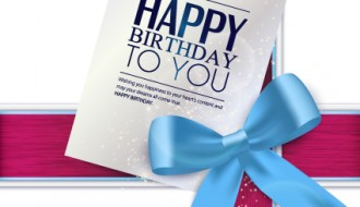 Happy birthday to you card – compleanno fiocco