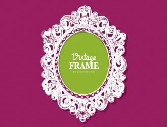 cornice ovale vintage – vintage frame