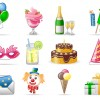12 icone party compleanno – birthday icons