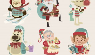 6 personaggi Natale – Christmas cartoon characters