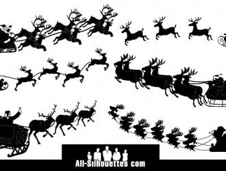 6 slitte Babbo Natale – Santa Claus sleigh