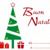 Buon Natale albero, regali – Merry Christmas tree, gifts card