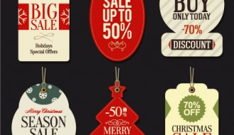 Christmas big sale  tags – targhette saldi Natale