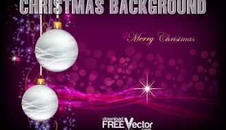 sfondo Natale viola con palline – purple christmas background with balls