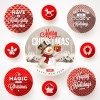 targhette rotonde Natale – round Christmas labels
