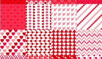 16 pattern cuori – Valentines Day seamless patterns