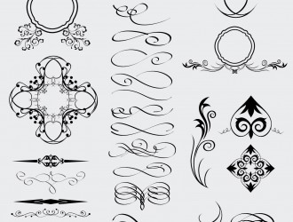 28 elementi decorativi – decorative celtic gothic arabic elements