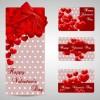 4 bigliettini San Valentino – shiny Valentines day gift cards