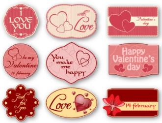 9 targhette amore – love valentine labels