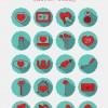 20 icone San Valentino – Valentines day icons