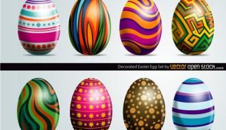 8 Easter Eggs – uova di Pasqua decorate