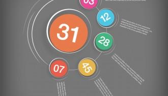 infografica cerchi – color circle infographic