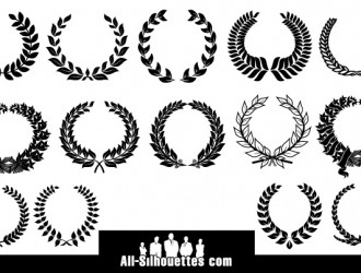 14 corone di alloro – laurel  wreaths