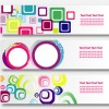 3 banner geometrici astratti  – geometric abstract banner