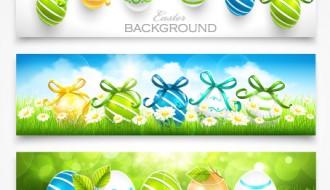 3 banner uova di Pasqua – Easter eggs ornaments banners