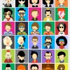 30 personaggi famosi – famous people avatars