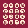 16 icone regali – gifts icons