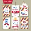 6 etichette saldi, offerte – banners sale, offers