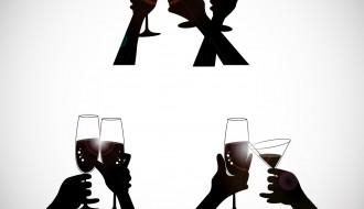 brindisi sagome mani – toasting hands silhouettes
