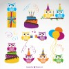 set compleanno gufo – owl birthday set