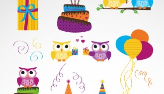 set compleanno gufo – owl birthday set
