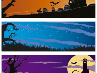 3 Halloween banner