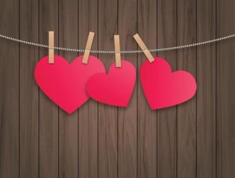3 cuori appesi – hanging hearts