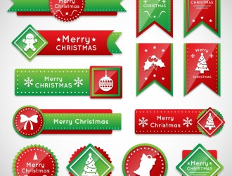 13 banner, etichette Natale – Christmas labels