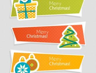 3 banner Natale – 3 Merry Christmas banner