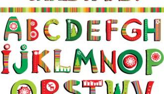 Christmas alphabet letters – alfabeto Natale