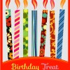 candeline colorate compleanno- birthday colorful candles invitation