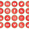20 icone natalizie social media – Christmas social media icons