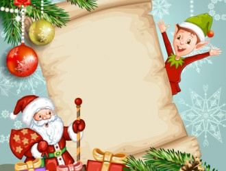 Babbo natale elfo pergamena regali palline santa for Sito regali gratis