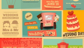 matrimonio inviti retro – wedding retro cards