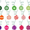 palline Natale verdi, rosse, viola – green, red, purple Christmas balls