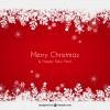 sfondo rosso Natale fiocchi di neve – red Christmas background snowflakes