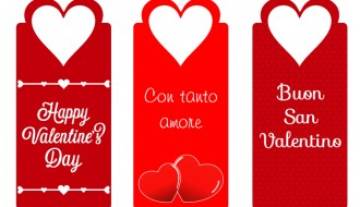 3 targhette San Valentino – Valentine Day labels