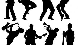 8 sagome musicisti – musician people silhouette